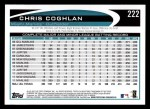 2012 Topps #222  Chris Coghlan  Back Thumbnail