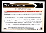 2012 Topps #272   -  Nyjer Morgan  Highlights Back Thumbnail