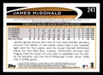 2012 Topps #241  James McDonald  Back Thumbnail