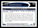 2012 Topps #253  Tim Federowicz  Back Thumbnail