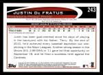 2012 Topps #243  Justin De Fratus  Back Thumbnail