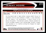2012 Topps #277  Jeremy Moore  Back Thumbnail