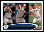 2012 Topps #297   -  Clayton Kershaw / Roy Halladay / Cliff Lee NL ERA Leaders Front Thumbnail