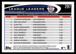 2012 Topps #297   -  Clayton Kershaw / Roy Halladay / Cliff Lee NL ERA Leaders Back Thumbnail