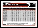2012 Topps #255  Scott Rolen  Back Thumbnail