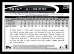 2012 Topps #228  Brent Lillibridge  Back Thumbnail