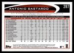 2012 Topps #287  Antonio Bastardo  Back Thumbnail