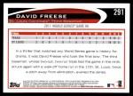 2012 Topps #291   -  David Freese  Highlights Back Thumbnail