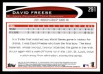 2012 Topps #291   -  David Freese  Highlights Back Thumbnail