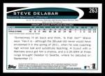 2012 Topps #263  Steve Delabar  Back Thumbnail