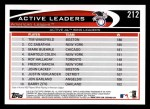 2012 Topps #212   -  Tim Wakefield / C.C. Sabathia / Mark Buehrle Active AL Wins Leaders Back Thumbnail