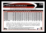 2012 Topps #230  Justin Morneau  Back Thumbnail
