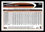 2012 Topps #251  Jason Bay  Back Thumbnail