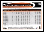 2012 Topps #323  Jason Isringhausen  Back Thumbnail