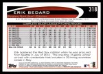 2012 Topps #318  Erik Bedard  Back Thumbnail