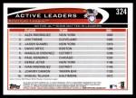 2012 Topps #324   -  Alex Rodriguez / Jim Thome / Jason Giambi Active AL RBI Leaders Back Thumbnail