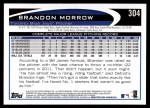 2012 Topps #304  Brandon Morrow  Back Thumbnail