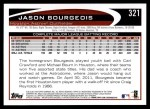 2012 Topps #321  Jason Bourgeois  Back Thumbnail