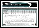 2012 Topps #315  Dustin Ackley  Back Thumbnail