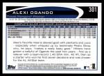 2012 Topps #301  Alexi Ogando  Back Thumbnail