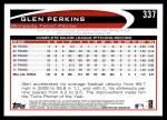 2012 Topps #337  Glen Perkins  Back Thumbnail