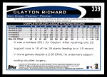 2012 Topps #339  Clayton Richard  Back Thumbnail
