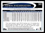 2012 Topps #341  Edwin Encarnacion  Back Thumbnail