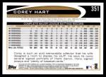 2012 Topps #351  Corey Hart  Back Thumbnail