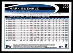 2012 Topps #355  Mark Buehrle  Back Thumbnail
