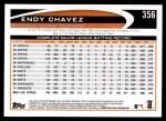 2012 Topps #356  Endy Chavez  Back Thumbnail