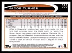 2012 Topps #358  Jacob Turner  Back Thumbnail