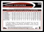 2012 Topps #359  Danny Espinosa  Back Thumbnail