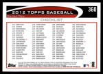 2012 Topps #360   -  Nelson Cruz Record Breaker Back Thumbnail