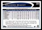 2012 Topps #364  Brandon Beachy  Back Thumbnail