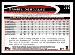 2012 Topps #372  Daniel Descalso  Back Thumbnail