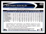 2012 Topps #405  Nathan Eovaldi  Back Thumbnail