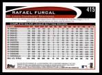 2012 Topps #415  Rafael Furcal  Back Thumbnail