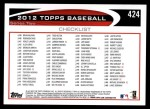 2012 Topps #424   -  Vladimir Guerrero Record Breaker Back Thumbnail