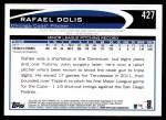 2012 Topps #427  Rafael Dolis  Back Thumbnail