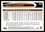 2012 Topps #433  Nate McLouth  Back Thumbnail