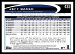 2012 Topps #435  Jeff Baker  Back Thumbnail