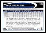 2012 Topps #447  Jair Jurrjens  Back Thumbnail