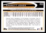 2012 Topps #453  Garrett Jones  Back Thumbnail