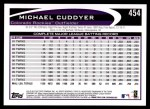 2012 Topps #454  Michael Cuddyer  Back Thumbnail