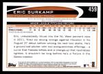 2012 Topps #459  Eric Surkamp  Back Thumbnail