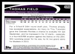 2012 Topps #460  Thomas Field  Back Thumbnail