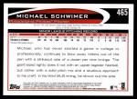 2012 Topps #465  Michael Schwimer  Back Thumbnail
