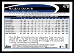 2012 Topps #478  Rajai Davis  Back Thumbnail