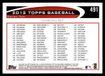 2012 Topps #491   -  Jose Valverde Record Breaker Back Thumbnail
