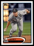 2012 Topps #513  Gaby Sanchez  Front Thumbnail